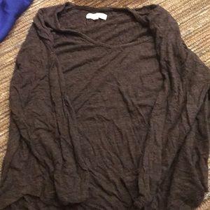 Brown soft long sleeve madewell shirt